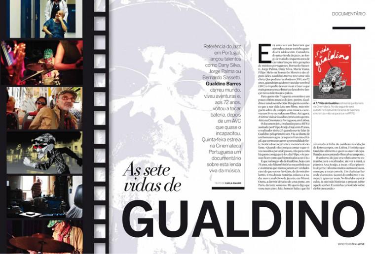 As Sete Vidas de Gualdino na Notícias Magazine